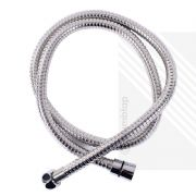 Stainless Steel Chrome Shower Hose | 1.25m Universal Flexible Pipe 8mm Bore 1250mm | ECOSPA